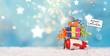 Leinwandbild Motiv Weihnachtsgeschenke