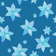 pattern of blue watercolor flowers  - 233338837