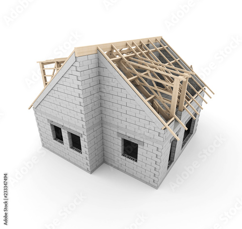 House construction - 233347494