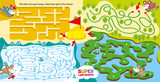 Super maze for kids. childrens labyrinth game. Pumping of logical and spatial thinking. Help little mice from different locations to get piece of cheese. Learn and play. Vector hand draw illustration. - 233351405