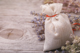 Aromatic herbs in a bag with copy space - 233355885