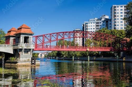 Leinwandbild Motiv Berlin-Tegel, Sechserbrücke