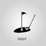 Golf icon. Golf symbol. Flat design. Stock - Vector illustration.