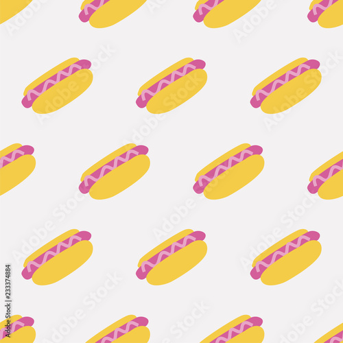fototapeta na ścianę seamless hot dog pattern