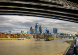 London, England, Aug 2018, view from the City of London corporation from under Blackfriars Bridge on the South Bank of the river Thames