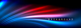 Neon glowing fluid wave lines, magic energy space light concept, abstract background wallpaper design - 233391498