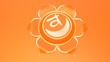 Leinwanddruck Bild - Orange Sacral Chakra Svadhistana symbol concept of Hinduism, Buddhism, Ayurveda. Sexuality creativity. 3d rendering