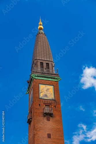 Tower on City Hall Square in Copenhagen, Denmark