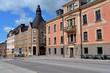canvas print picture - Historische Gebäude in der Hauptstraße von Härnösand