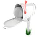Golf ball inside mailbox