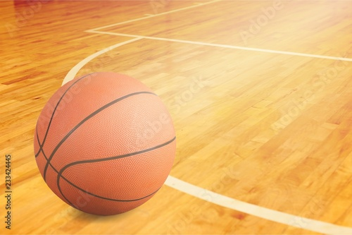 Orange Basketball ball on  background