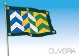 Cumbria county flag, United Kingdom, vector illustration - 233427299
