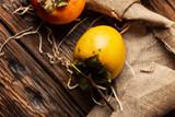 Fresh sweet persimmon