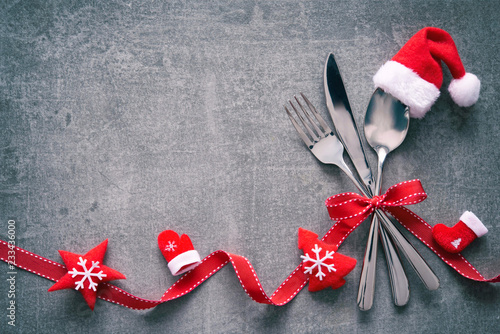 Christmas table place setting - 233436000