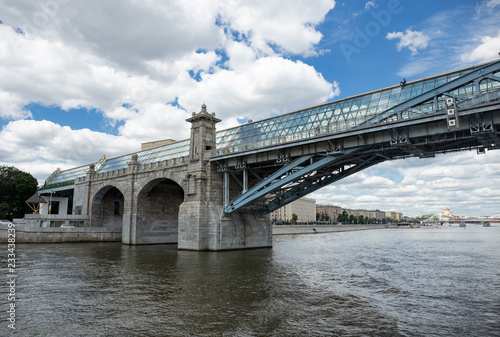Pushkinsky (Andreyevsky) Bridge for pedestrians in Moscow, Russia