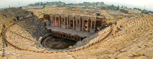 Roman Antique Theater in Hierapolis, now Pamukkale, Turkey