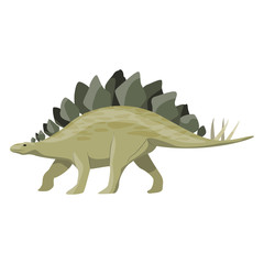 Stegosaurus. Dinosaur. Prehistoric animals. Vector of the Mesozoic or Jurassic.