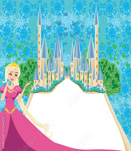 Beautiful fairytale castle frame - 233443230