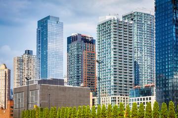 View of the New York City modern skyline, USA