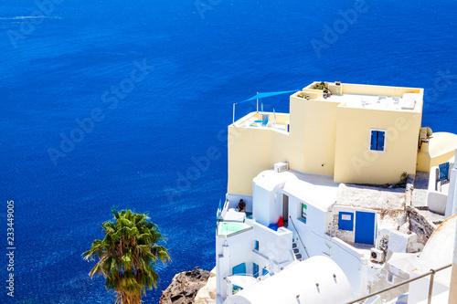 Santorini. The Greek city of Oia on the island of Santorini.