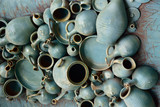Old dishes and clay pots. - 233457456