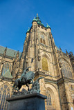 Tower of St. Vitus's cathedral, Prague, Czech Republic