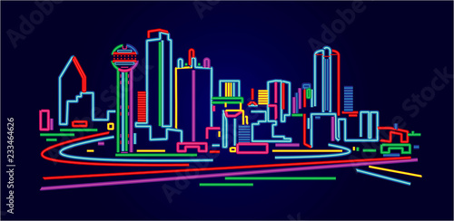 Dallas Texas skyline - 233464626
