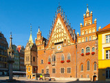 The Old Town Hall of Wroclaw on Market Square, Poland.