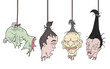 horror hanging heads