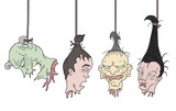 horror hanging heads - 233478655