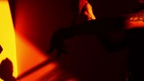 Lady in red  expressing a feeling . Abstract concept. Slow motion 48 fps - 233482871