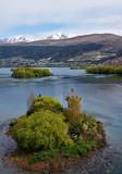 Lake Wakatipu flowing into the Kawarau River Queenstown, New Zealand - 233486452