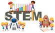 A logo of STEM education