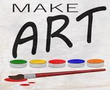 make art design on wood grain texture - 233489235
