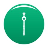 Large zip icon. Simple illustration of large zip vector icon for any design green - 233508663