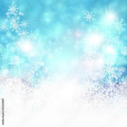 Leinwandbild Motiv Merry Christmas: Blue background with stars :)