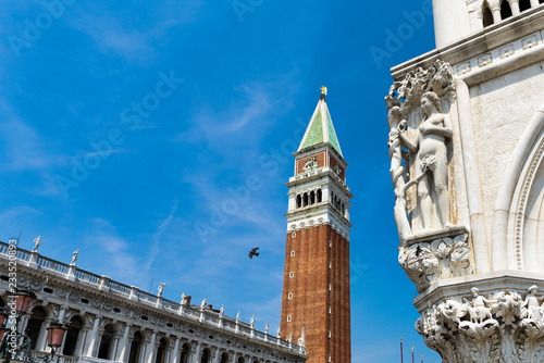 fototapeta na ścianę St Marks Bell Tower - Campanile; Venice, located in the Piazza San Marco. It is one of the most recognizable symbols of the city.