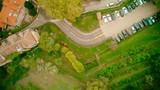 Overhead aerial view of a ancient town in Europe - 233527877