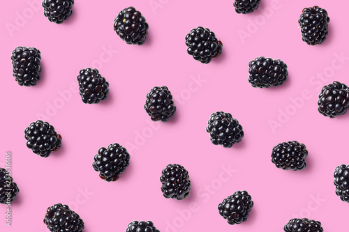 Colorful fruit pattern of blackberries - 233536606