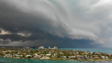 Aerial view of coutryside and coastline from Dubois Park on a stormy day  in Jupiter, Florida - 233541023