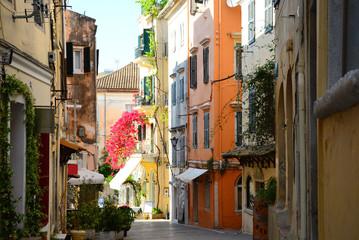 old street in venice italy