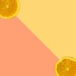 Orange fruit slice on pastel background, Minimal concept. - 233548406