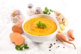 sweet potato soup with ginger - 233556817