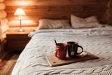 Cozy winter weekend in log cabin - 233559831