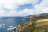 nature and landscape concept - beautiful view of big sur coast in california and bixby creek bridge - 233563496