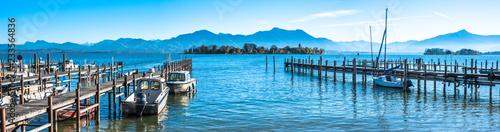 Leinwandbild Motiv lake chiemsee - bavaria