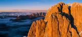 Beautiful Dolomites peaks panoramic view - 233565280