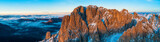 Beautiful Dolomites peaks panoramic view - 233565655