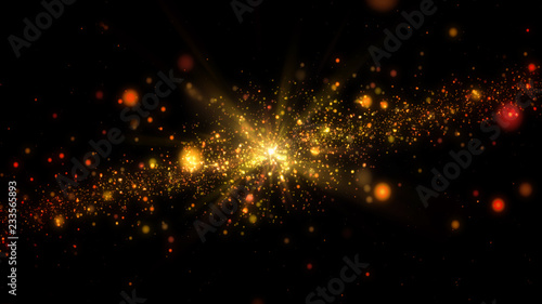 Galaxy abstract golden background - 233565893