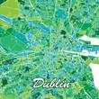 Colorful Dublin Map - 233570073